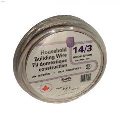 30m 14/3 White Wire