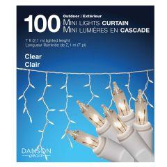 100 Clear Outdoor Curtain Mini Light Set
