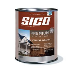 1 L 100% Acrylic Flat Pure White Exterior Latex Paint