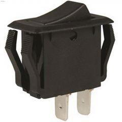 125/250VAC SP Black SPST Appliance Rocker Switch