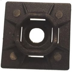"""1"""" x 1"""" UV Black Nylon 6.6 Cable Tie Mounting Base-5/Pack"""