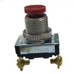 6A At 125VAC SP Nickel SPST Contact Push-Button Switch