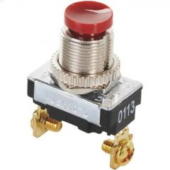 3A At 120VAC SP Red SPST Contact Push-Button Switch