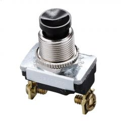 3A At 240VAC SP Black SPST Contact Push-Button Switch
