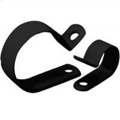 """3/8"""" UV Black Plastic 1/2"""" Cable Clamp-12/Pack"""