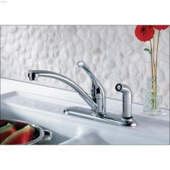Kitchen Faucet With Integral Spray