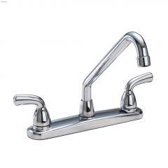 2-Handle Chrome Lever Waltec\u00ae Deck Faucet