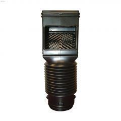 Black Plastic FlexGrate Downspout Filter