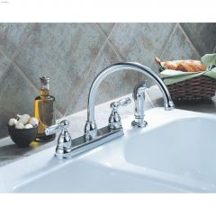 Lever Peerless Kitchen Faucet With Spray