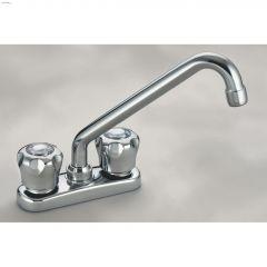 2-Handle Chrome Waltec Deck Laundry Faucet