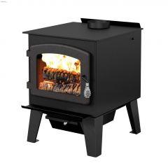 Drolet Austral II 26.4kW Steel Metallic Black Wood Stove