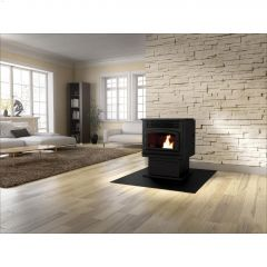 Drolet Eco-55 11.5kW Stainless Steel Baffle Pellet Stove