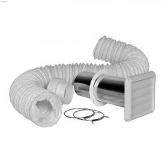 White Vinyl Bath Fan Vent Kit