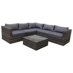 Framed Sofa Set Includes 3 Corner 2 Middle & 1 Table