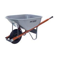 True Temper Contractor Steel-Tray Wheelbarrow