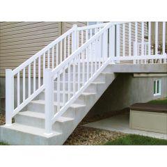 "96"" x 36"" PVC Vision Stair Railing"