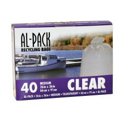 """26"""" x 36"""" Clear Recycling Bags-40/Pack"""