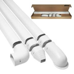 "3-1/2"" x 8' White Wall Duct Kit"
