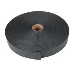 "3/16"" x 1-1/4"" x 30' Black Foam Tape"