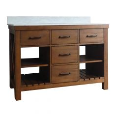 """48"""" Weathered Oak Vanity with Carrara Cultured Marble Top"""