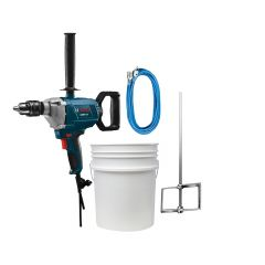 """Bosch 9A 5/8"""" Mixing Drill with Bucket Paddle Mixer"""