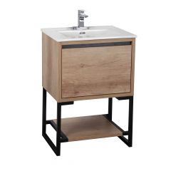 "24"" Natural Wood Finish Vanity"