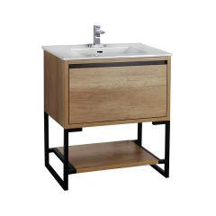 "30"" Natural Wooden Finish Vanity"