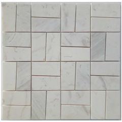 Carrara Squared Mosaic Tile
