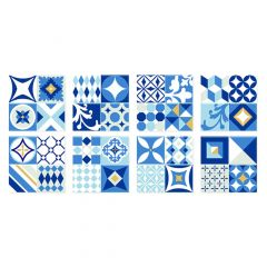 Vintage Azur Mosaic Wall Tile - 6/Pack