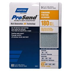 Prosand Sanding Sheet 9 X 11 180grit Handy Pack-3/Pack