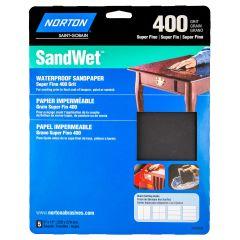 Sandwet Sanding Sheet 9 X 11 400grit Handy Pack-5/Pack