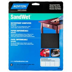 Sandwet Sanding Sheet 9 X 11 Assorted Grit Handy Pack-5/Pack