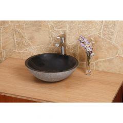 Black Granite Round Above Counter Bowl