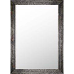 Black Chalk Wash Wood Framed Mirror