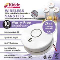 120v AC Wireless Talking Smoke and Carbon Monoxide Alarm