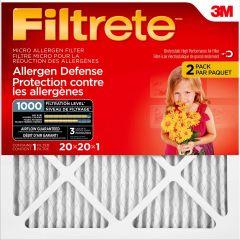 3M Filtrete Micro Allergen Air Filter 20 X 20 X 1 -2/Pack