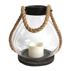Glass Lantern With 7' Rope