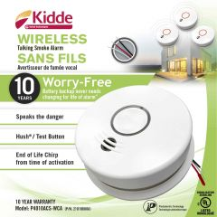 120V AC Wireless Talking Smoke & Carbon Monoxide Alarm