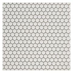 "11.30""x11.50"" White Precious Mosaic 9.93 Sq-ft/Box"