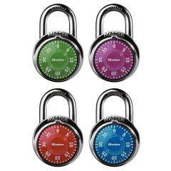 1-7/8 Combination Dial Padlock-Assorted Colours