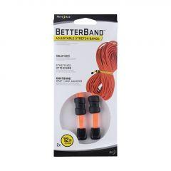 "Betterband Adjustable Stretch Bands 12"" - Bright Orange"