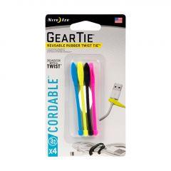 """Gear Tie Cordable Twist Tie 3"""" - Assorted"""