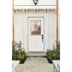 """22"""" X 36"""" Door Glass-nouveau Deco"""