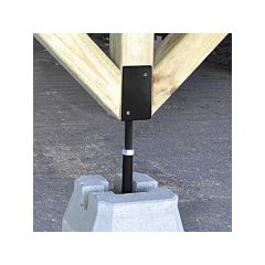 Adjustable Deck Support 44 - Black