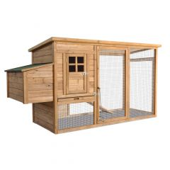 Chicken Coop with Covered Run and Nesting Box