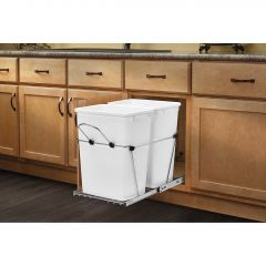 Double 35 Quart Waste Container Soft Close