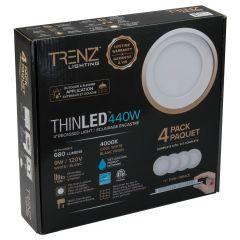 "4"" Round Thinled™ Recessed Kit 4000k White-4/Pack"