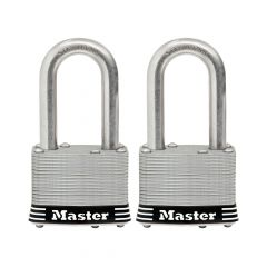 "1-3/4"" Laminated Stainless Steel Padlock 1-1/2"" Shackle-2/Pk"