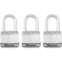 "2"" Laminated Padlock With 1-1/2"" Shackle-3/Pack"