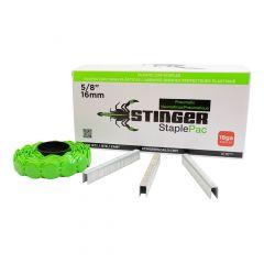 Stinger 5/8 Inch Staple and Cap Pack 2000/Box